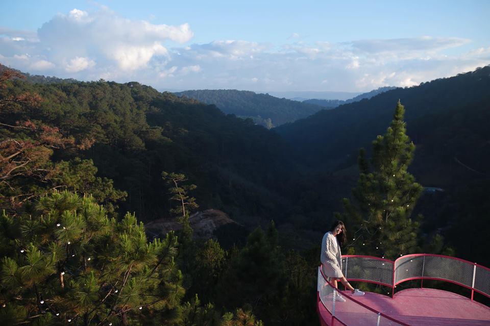 Kymi Villa cây cầu màu hồng đẹp rụng rời giữa rừng thông